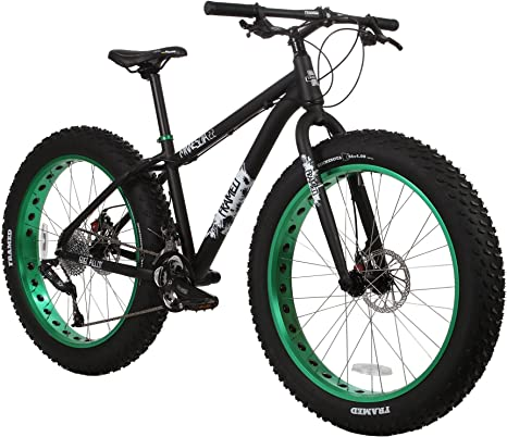 Enmarcado Minnesota 2.2 grasa bicicleta, Negro/Verde: Amazon.es ...