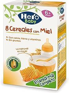 HERO Baby papilla 8 cereales con miel caja 600 gr: Amazon.es: Alimentación y bebidas