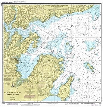 Amazon.com: Map - Salem Marblehead And Beverly Harbors, 1984 ...