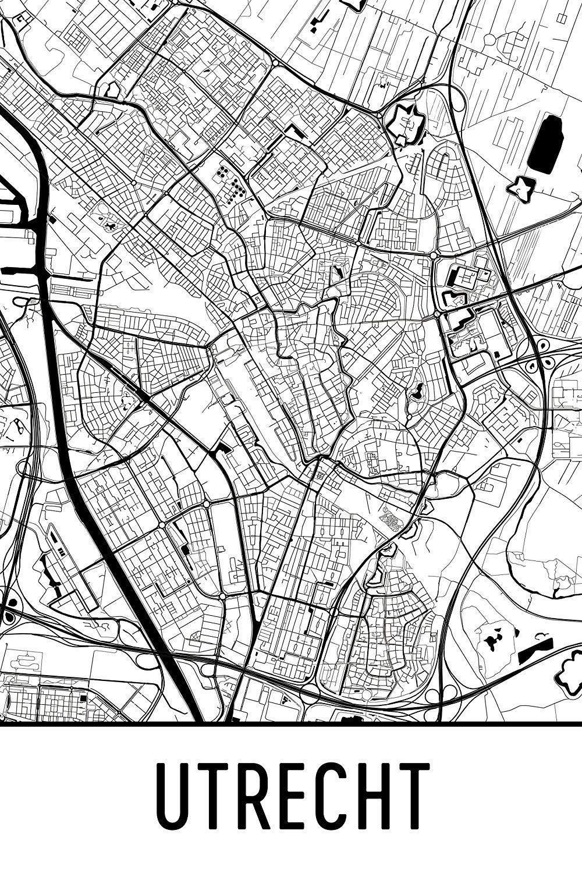 Utrecht netherlands utrecht poster utrecht wall art utrecht gift utrecht decor utrecht cityscape utrecht art print 24 x 36 black and white