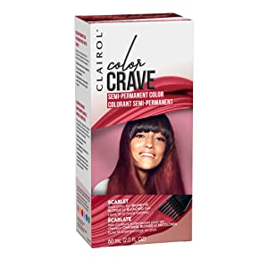 Clairol Color Crave Semi-permanent Hair Color, Scarlet, 1 Count