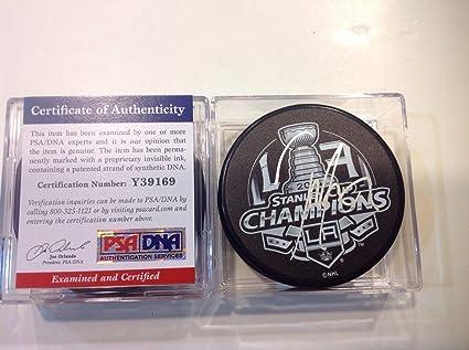 a67ce56cb74 Jordan Nolan Signed Hockey Puck - 2014 Stanley Cup LA COA a - PSA/DNA