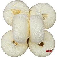 Vardhman 100% Acrylic Wool Cream Baby Soft Wool Ball Hand Knitting Wool/Art Craft Soft Fingering Crochet Hook Yarn, Needle Knitting Yarn Thread Dyed