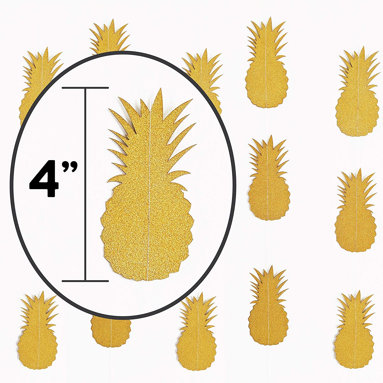 Large Hawaiian Pineapple Gold Glitter Banner For Tropical Beach Party Supplies Aloha Craft Company Aloha Luau Banner