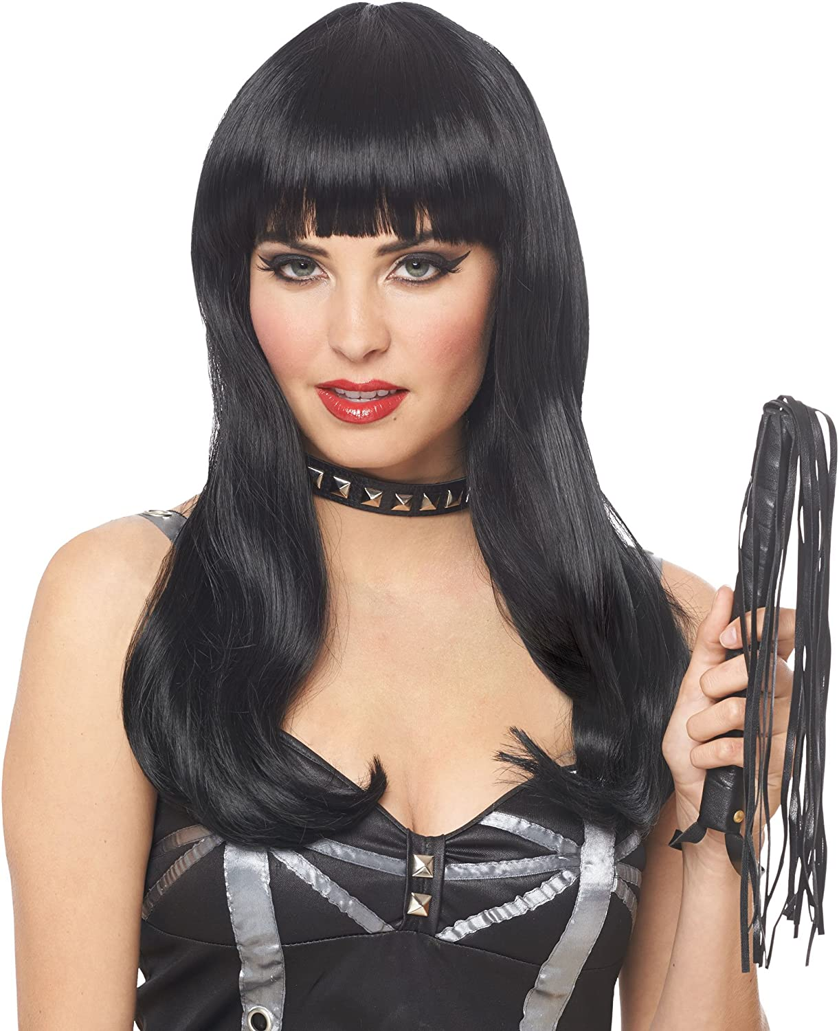 Franco American Novelty 24568-01 Mistress Wig With Bangs - Black ...