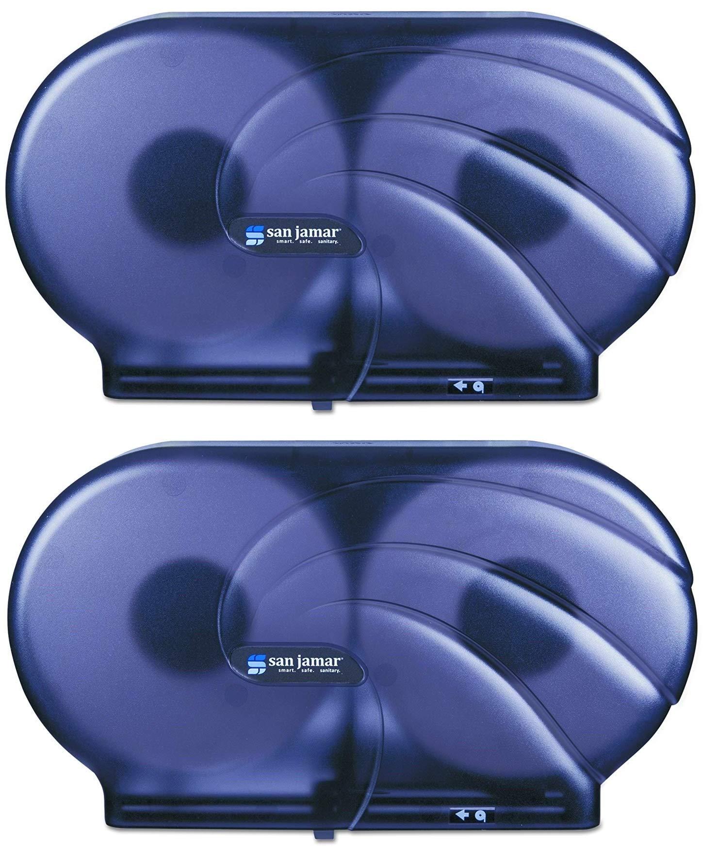 San Jamar R4090TBK Twin 9'' JBT Toilet Tissue Dispenser, Black Pearl (2.Units)