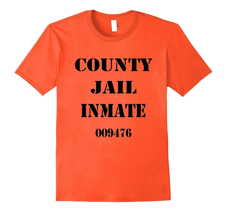 Jail Inmate Prisoner Halloween Costume T Shirt-ANZ