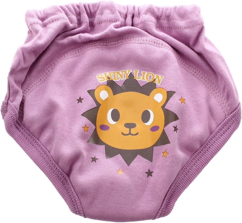 Iycorish 4 pieces X Pantalon de couche-culotte pour les bebes en bas age Pantalon de couche-culotte mignon a 4 Couches etanche Pantalon dentrainement reutilisable 3-4 Ans