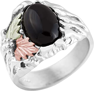 product image for Black Hills Gold on Silver Mens Onyx Ring