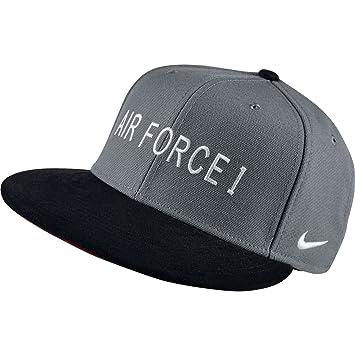 81bb0ad8f17 ... get nike mens s air force 1 af1 hunt true snapback hat cool grey white  77922