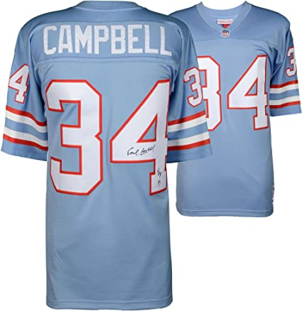 the latest 69e1b ab16a Earl Campbell Houston Oilers Autographed Mitchell & Ness ...