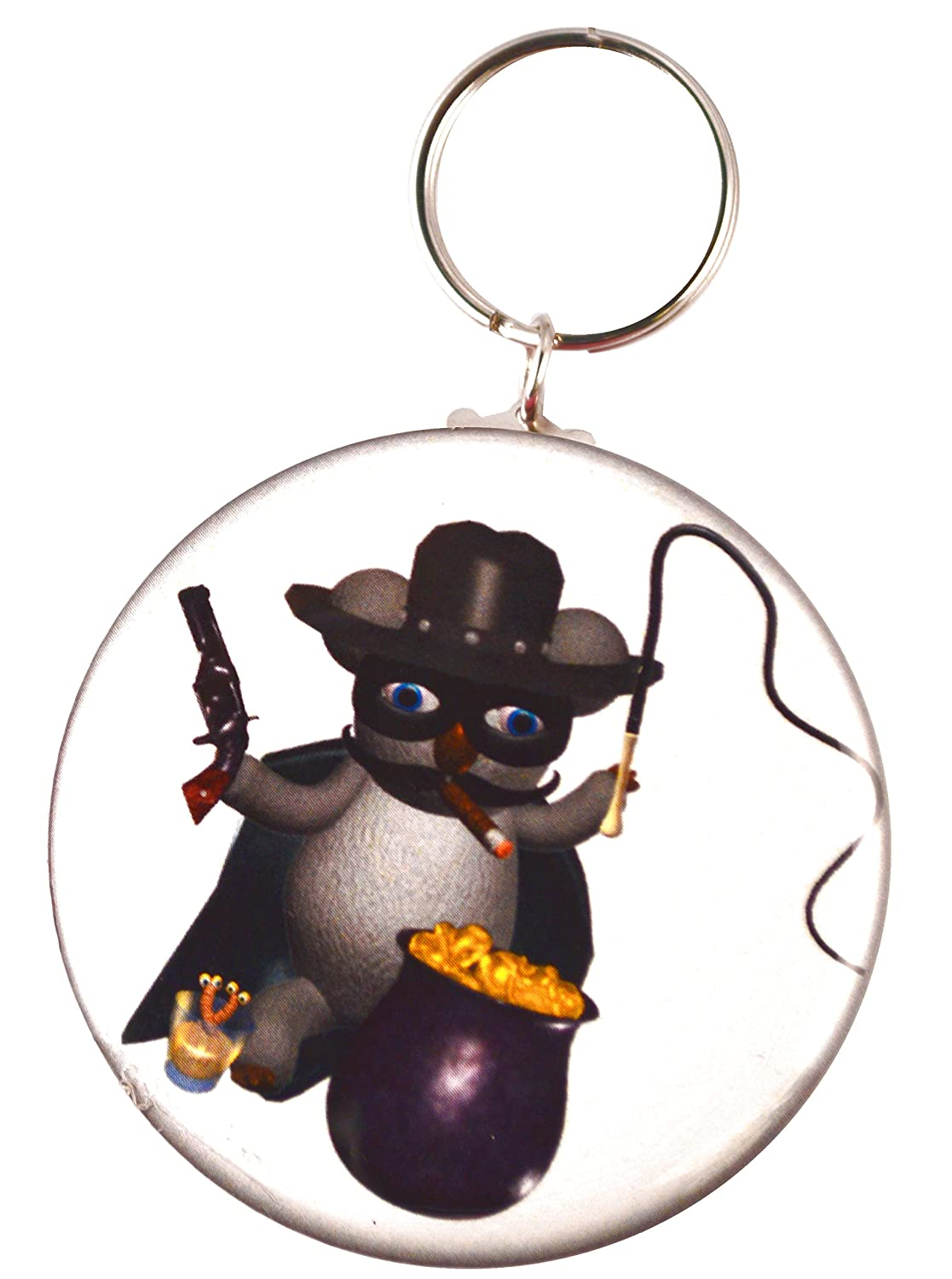 Amazon.com: Funny Koala zorro Two-Side Mylar carcasa llavero ...