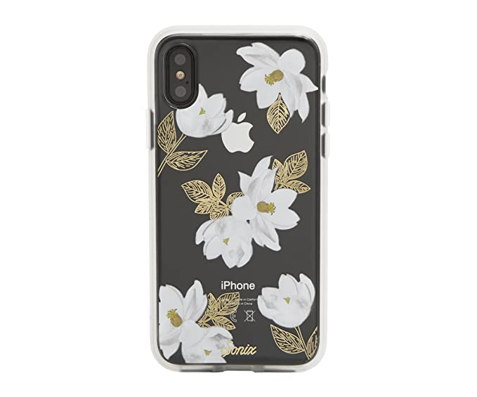 official photos b3aac 11a80 iPhone Xs, iPhone X, Sonix Oleander (White Flower) Cell Phone Case  [Military Drop Test Certified] Women's Protective Clear Case for Apple  iPhone X, ...