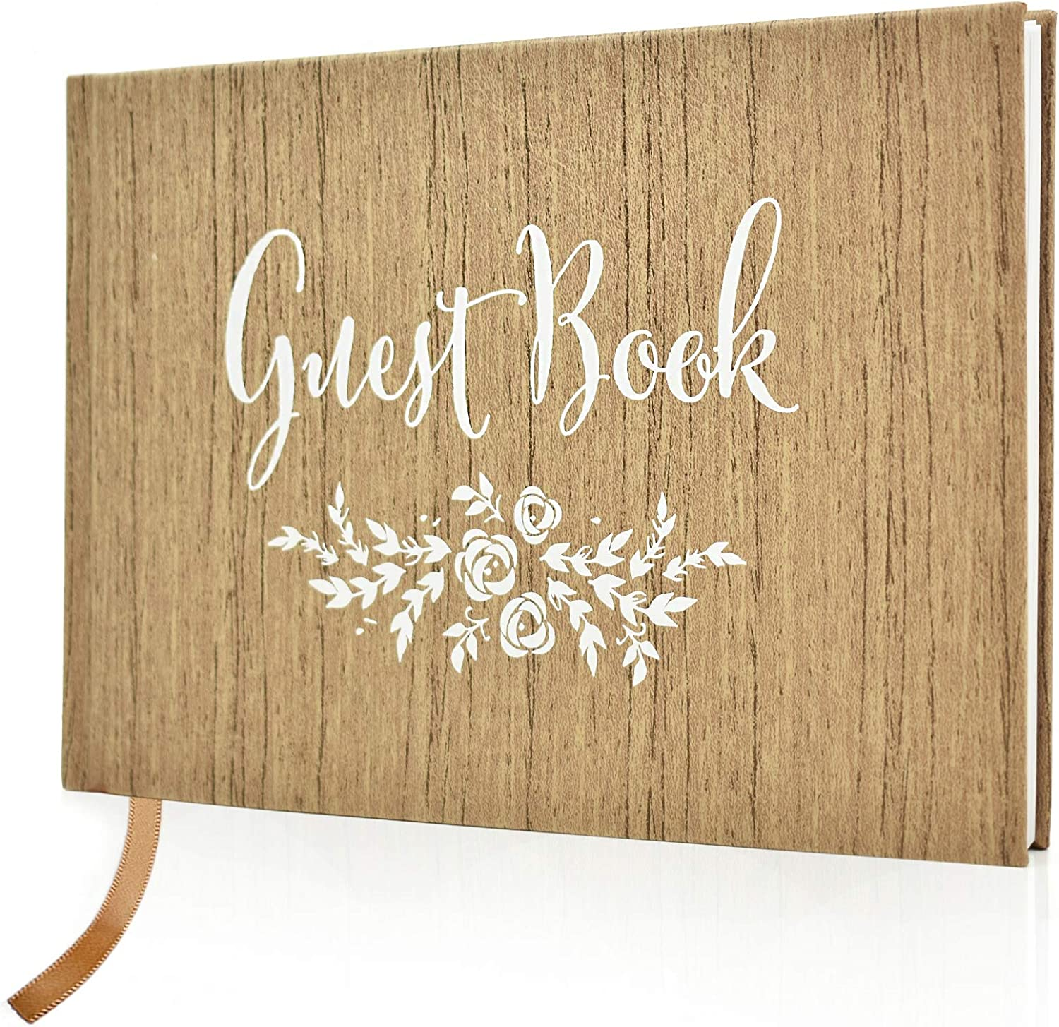 Guestbook wedding with and without questions white pages blanko photobuch classy romantic vintage boho love personalized name date
