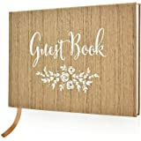 "Wedding Guest Book – Polaroid Album Photo Guestbook Registry Sign-in Vintage – Hardbound Book with Bookmark – 9"" x 6…"