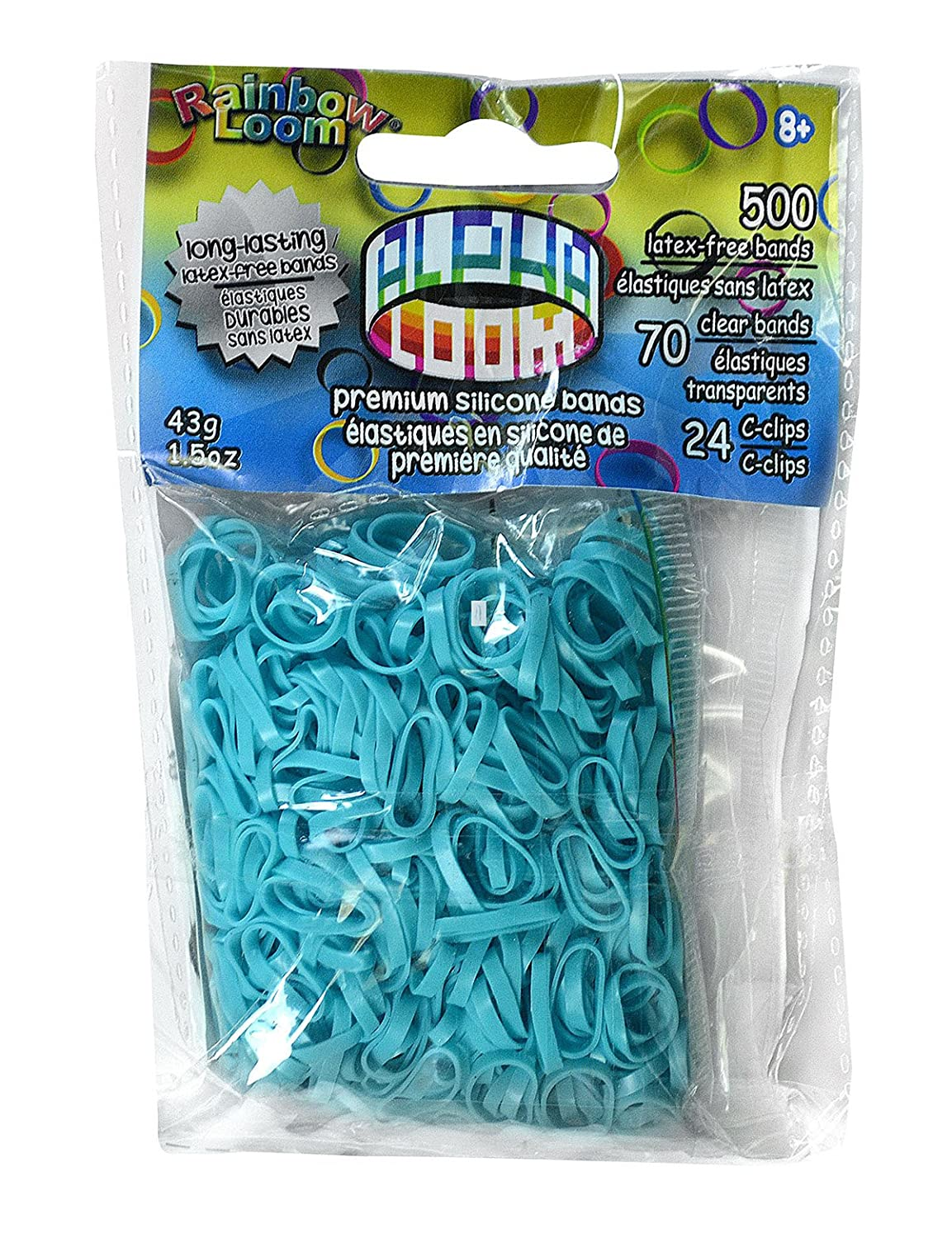Rainbow Looms 494 B0233 Turquoise Alpha Bands