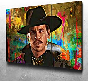NATVVA Wall Art for Living Room Doc Holliday Movie Canvas Wall Decor for Home Artwork Painting 3 Pieces Canvas Print for Bedroom Decor Modern Hang a Picture