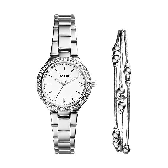 253eaf5a6323 Fossil Reloj Analogico para Mujer de Cuarzo con Correa en Acero Inoxidable  ES4336SET  Amazon.es  Relojes