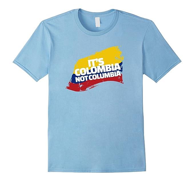 43b8204e5 Men s Columbia Shirt - It s Colombia! Not Columbia! - Funny Shirt 2XL Baby  Blue