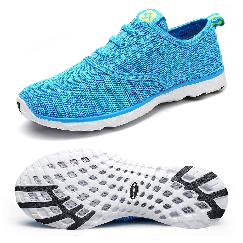 Dreamcity Women's Water Shoes Athletic Sport Lightweight Walking Shoes Blue