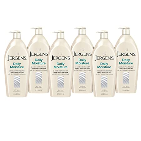 Jergens Daily Moisture Dry Skin Moisturizer, 32 Ounces Pack of 6