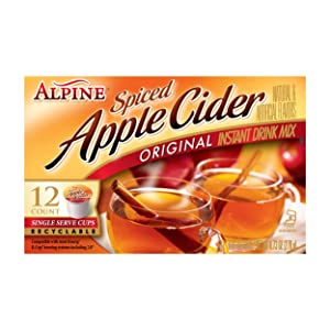 Alpine Spiced Apple Cider Original Instant Drink Mix, 12-Count .81-Ounce Cups(Total of 9.72-Oz)