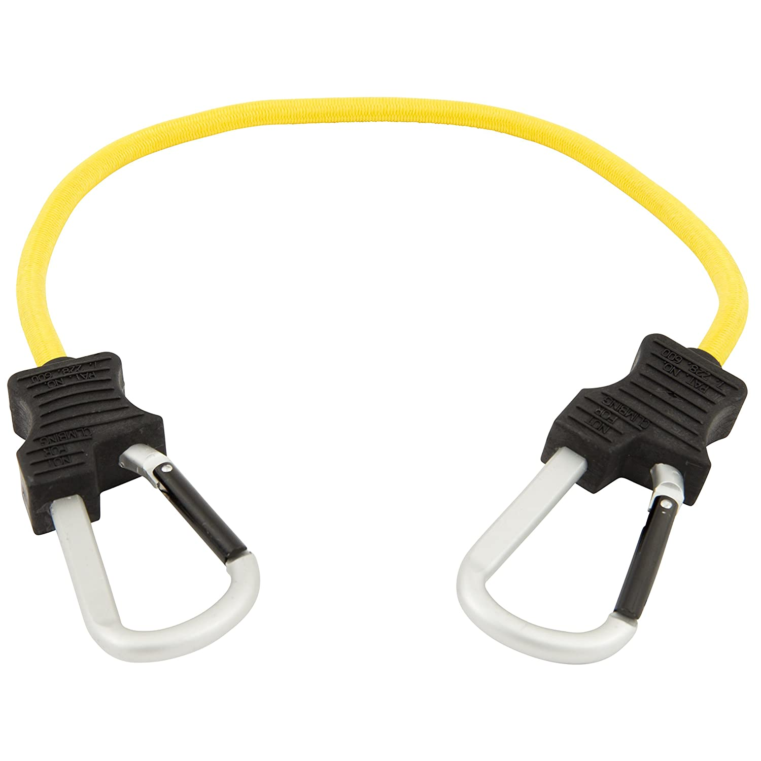 """Keeper 06152 24"""" Super Duty Bungee Cord with Carabiner Hook (Yellow)"""