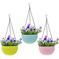Livzing Flower Pot Hanging Basket with Hook Chain for Home Gardener Office Balcony Grower Planter