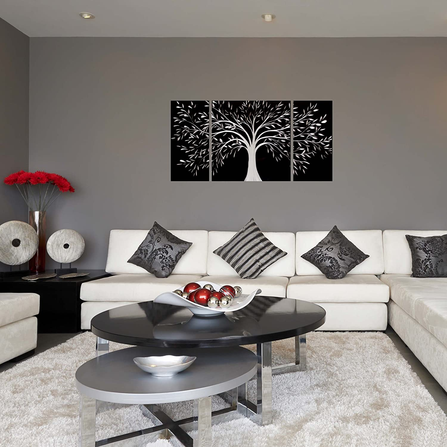 Amazon Black And White Tree Of Life Metal Wall Art 50 X 24