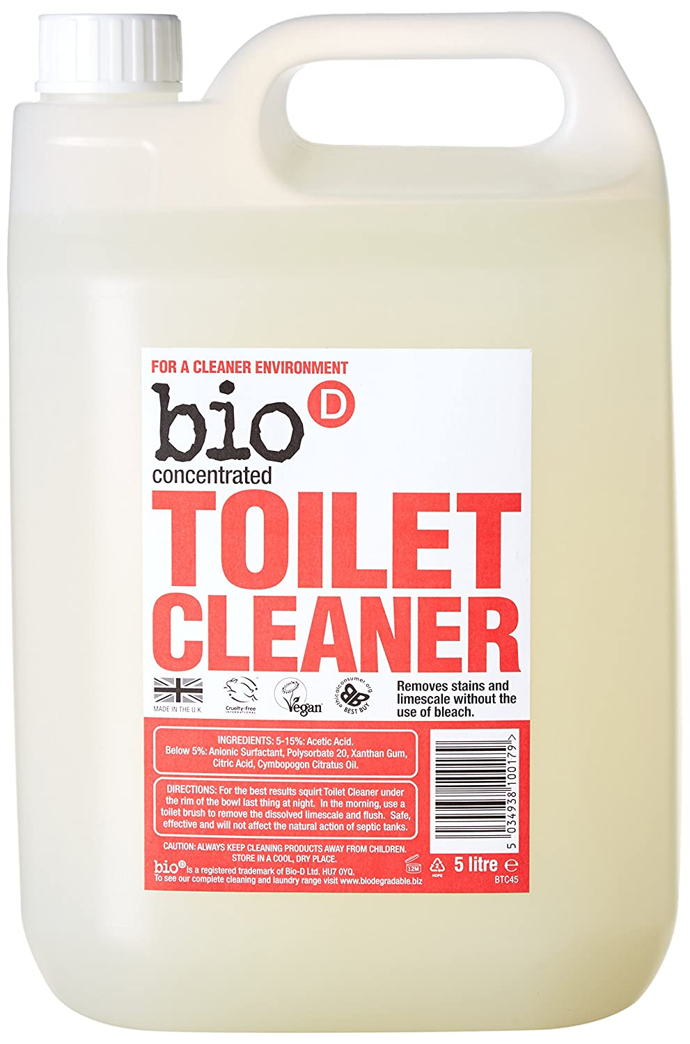 Bathroom cleaner without bleach - Bio D Toilet Cleaner Bulk 5 Litre Amazon Co Uk Health Personal Care
