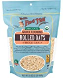 Bobs Red Mill Organic Oats Rolled Quick, 16 Ounce