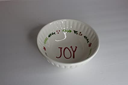 Christmas Bowls And Platters.Amazon Com Tag Ceramic Stoneware Serving Bowl Embossed