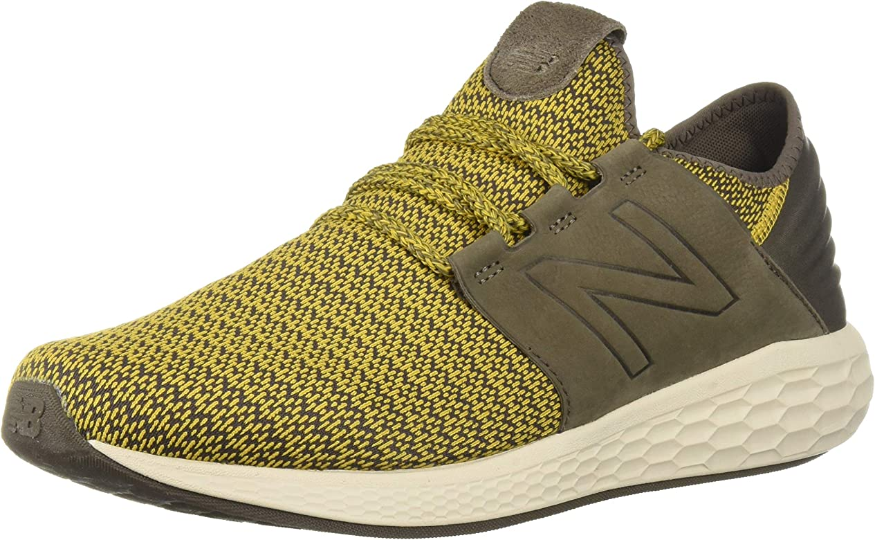 New Balance Mens Cruz V2 Fresh Foam Running Shoe, sunflower/light chalk board/birch, 7 D US: Amazon.es: Zapatos y complementos