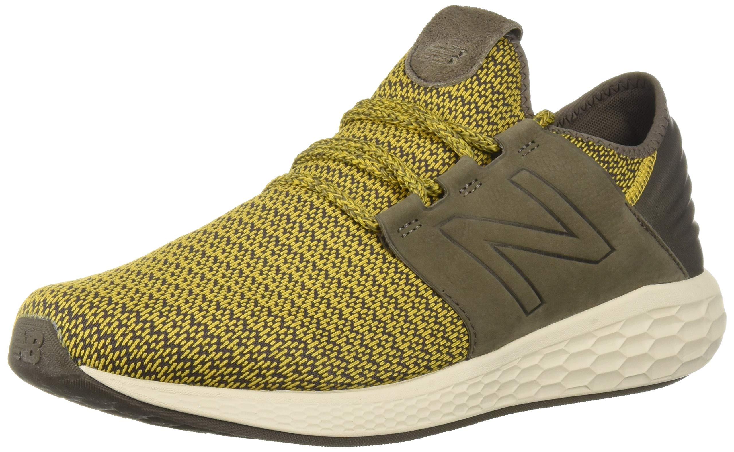 New Balance Men's Cruz V2 Fresh Foam Running Shoe, sunflower/light chalk board/birch, 10.5 2E US by New Balance