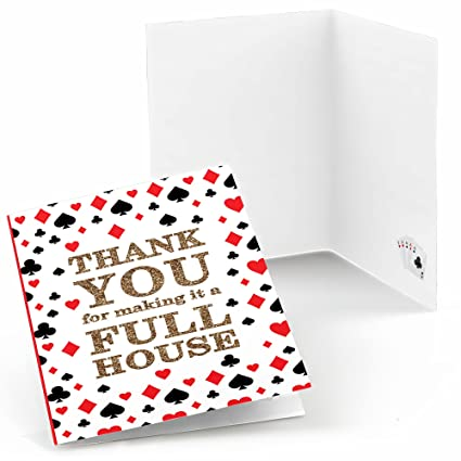 Amazon Com Las Vegas Casino Party Thank You Cards 8 Count