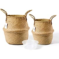 Deals on POTEY 720101 Seagrass Plant Basket Set of 2