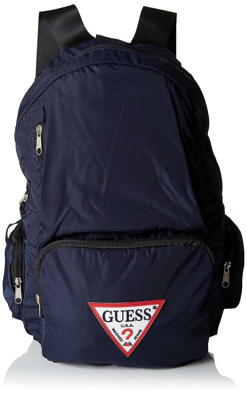 GUESS Hombre HM6387NYL81 Mochila GUESS - Bags Backpack Mochilas Hombre Amarillo (Yellow) 18x44x28 cm (W x H L)