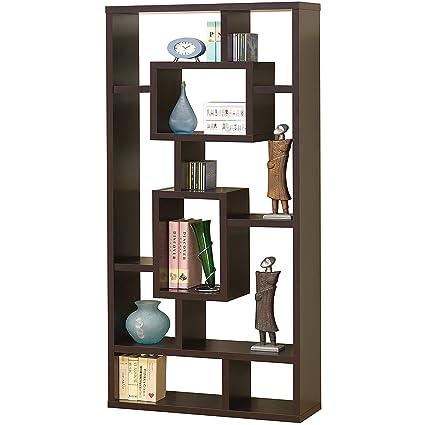 Amazon.com: Estantería moderna modular de madera con ocho ...
