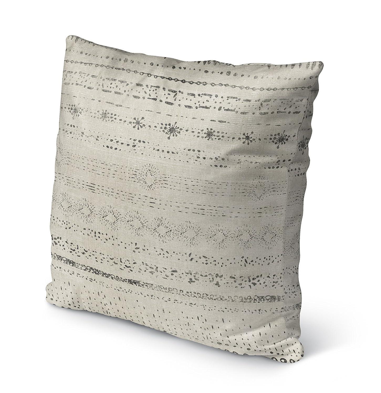 Size: 26X26X6 - Beige//Grey TELAVC1489OP26 KAVKA Designs Novara Indoor-Outdoor Pillow, - Encompass Collection