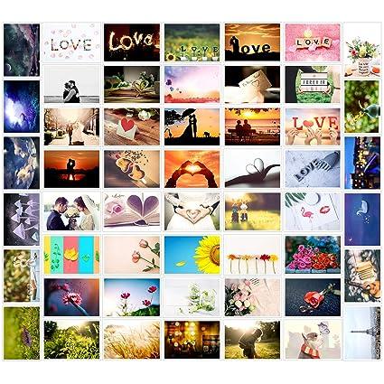 Vordas 52 Postkarten für Hochzeit Postkartenspiel - 52 Hochzeitspostkarten, Ideal für Ihre Liebesgrüße, Hochzeiten bzw. Hochz