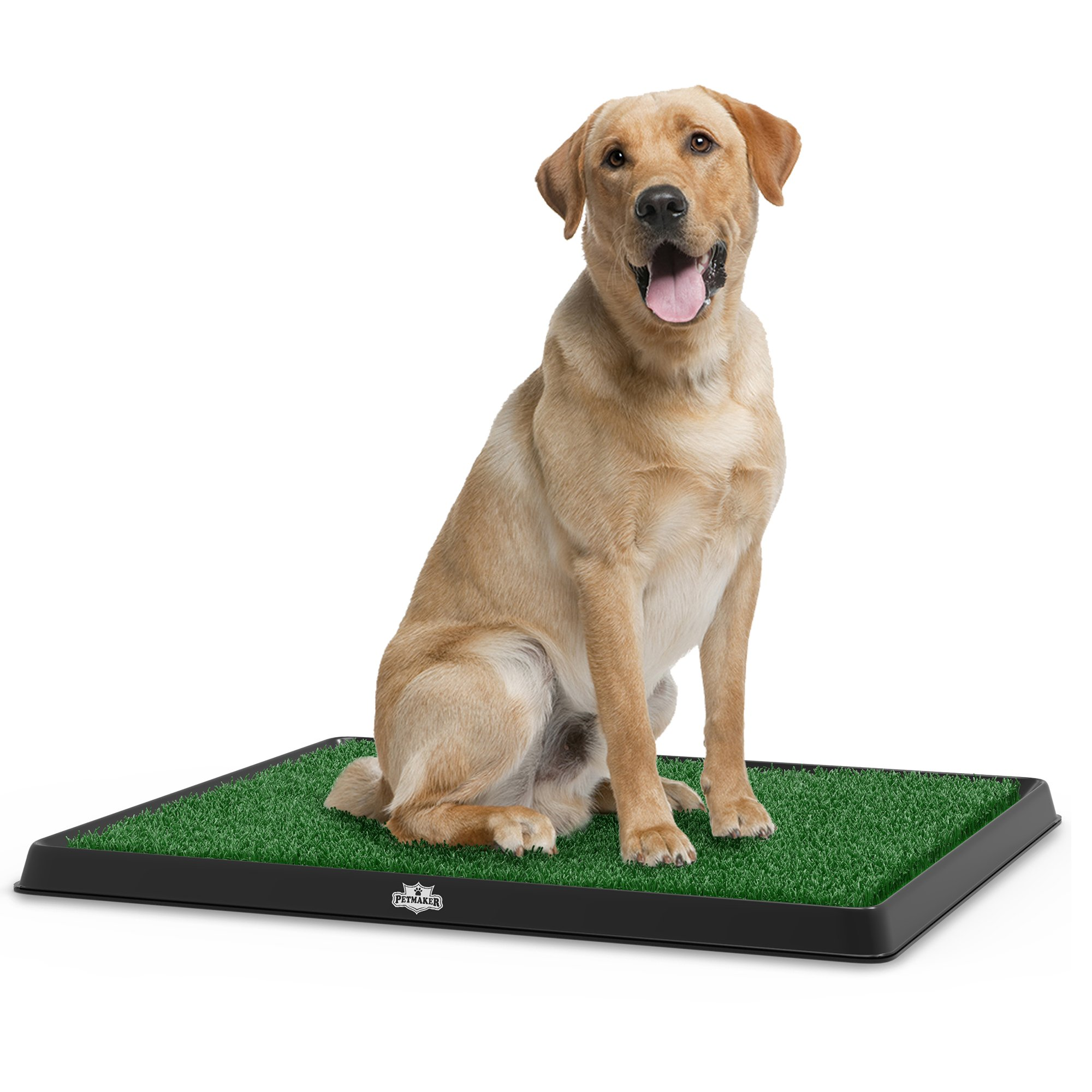 PETMAKER Artificial Grass Bathroom Mat for Puppies and Small Pets- Portable Potty Trainer for Indoor and Outdoor Use Puppy Essentials, 20'' x 25''