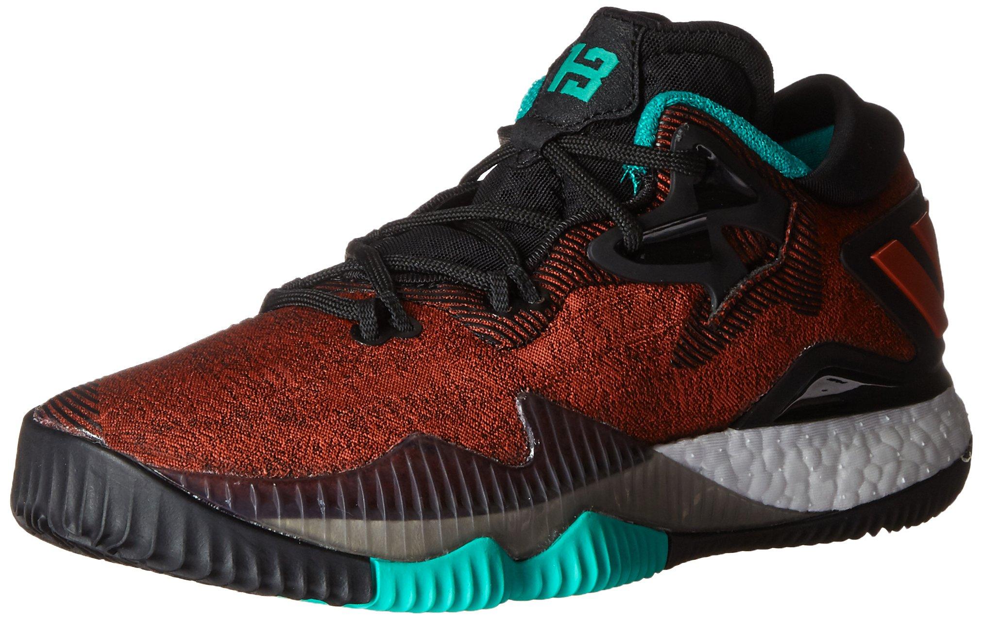 adidas Performance Boys' Crazylight Boost Low 2016 J Skate Shoe, Ray Red Scarlet/Black, 7 M US Big Kid