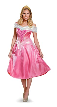 DIS85694 (Ladies 4-6) Aurora Deluxe Adult Costume  sc 1 st  Amazon.com & Amazon.com: Aurora Deluxe Adult Costume Adult Disney Princess ...