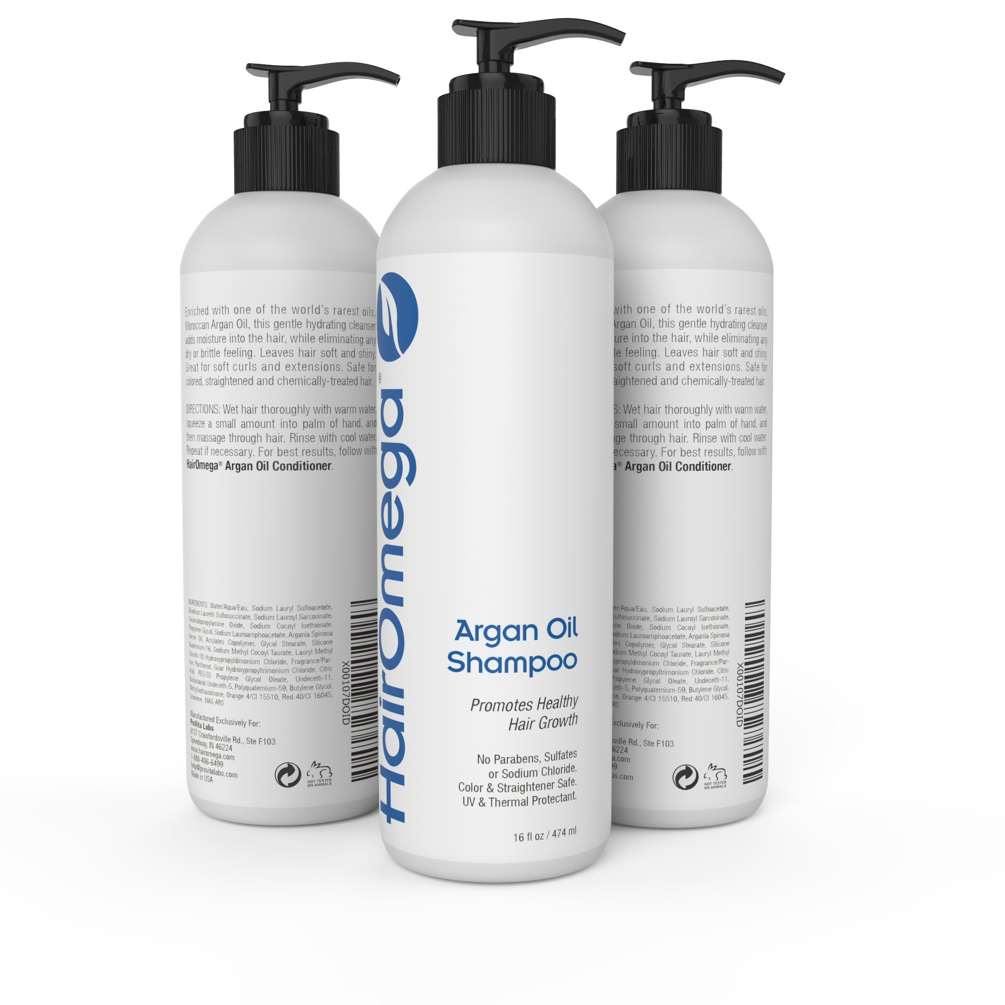 Dr. Formulas Hairomega Argan Oil Infused Restorative Shampoo - Moisturizes Dry Scalps and Supports Healthier Hair Growth