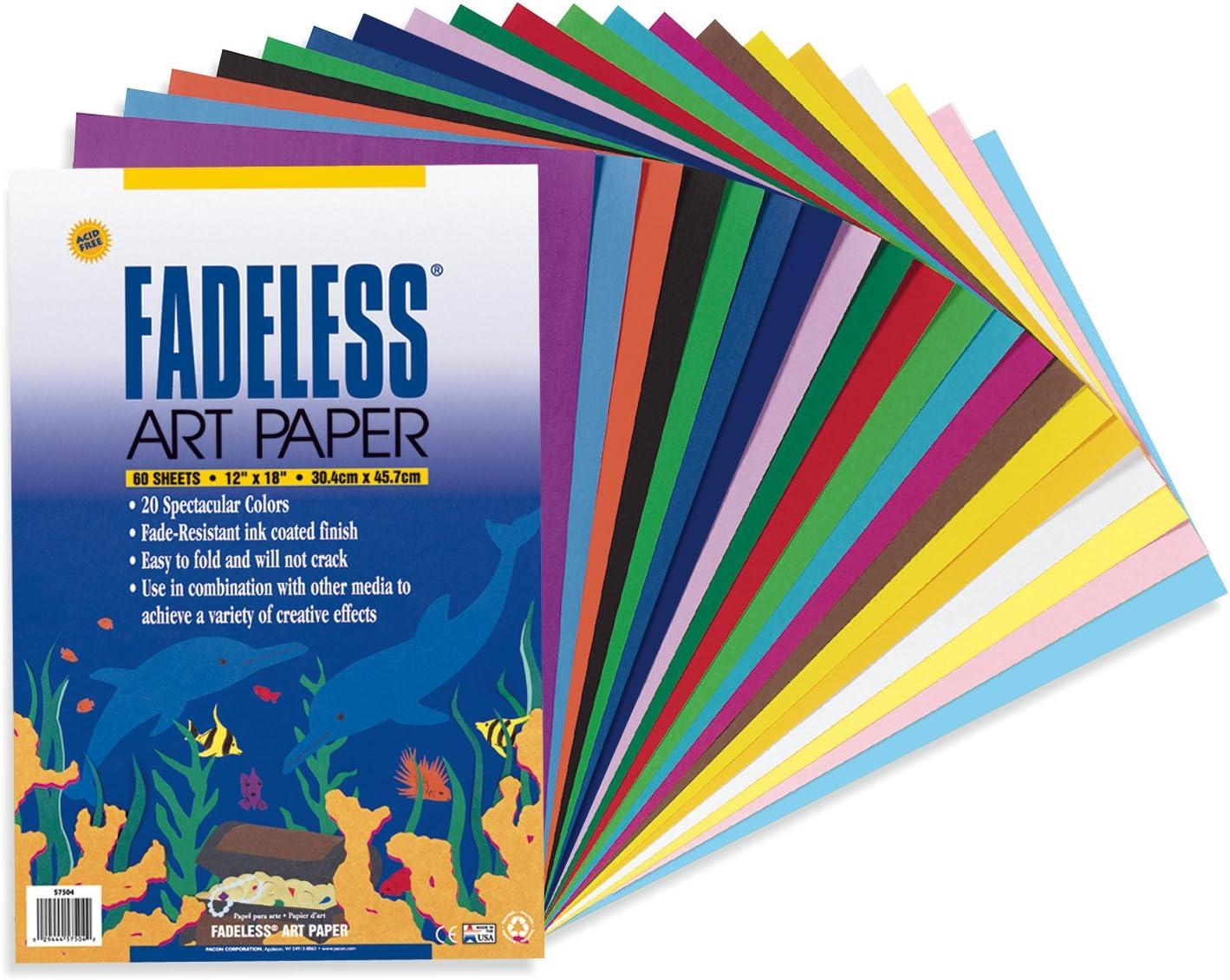 B00006IDYE Fadeless Art Paper, 50 lb., 12 x 18 Inches, Multiple Colors, 60 Sheets 81YcGUoNpyL