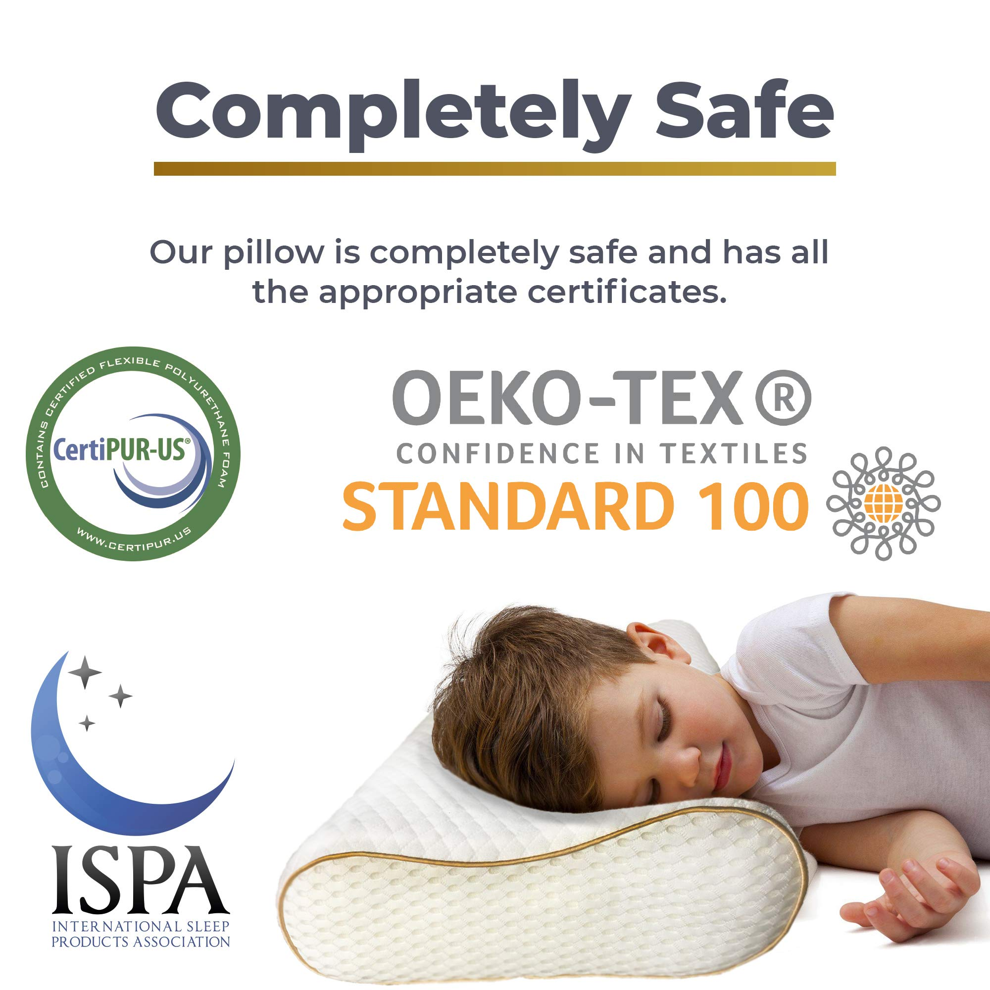 Memory Foam Pillow, Neck Pillow - ROYAL THERAPY Bamboo Adjustable Side Sleeper Pillow for Neck & Shoulder, Support for Back, Stomach, Side Sleepers, Orthopedic Contour Pillow, CertiPUR-US certified by Royal Therapy (Image #6)