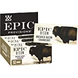 EPIC Provisions Protein Bar Bison Uncured Bacon + Cranberry Bar, 12 Count