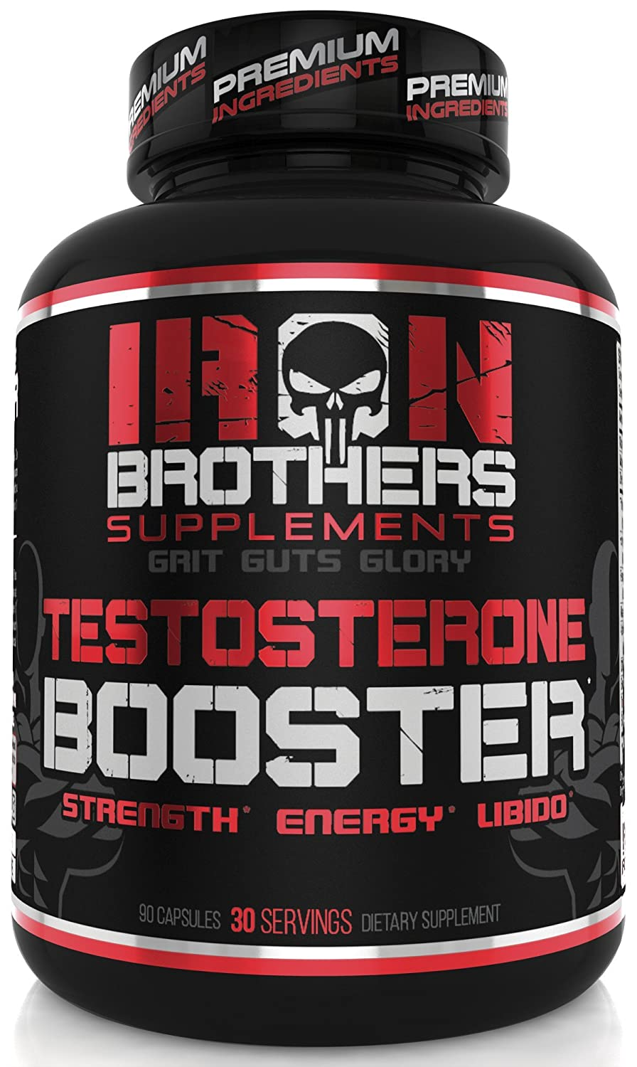 Testosterone Booster for Men Supplement for Natural Energy, Strength, Libido & Stamina - Lean Muscle Growth - Promotes Fat Loss - Increase Male Performance & Vitality- Build Mass - 90 Veggie Caps