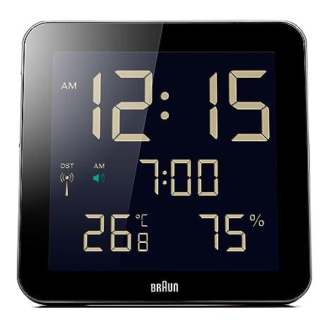 Amazon.com: Braun BNC014WH Temperature/Humidity Quartz Wall Clock: Watches