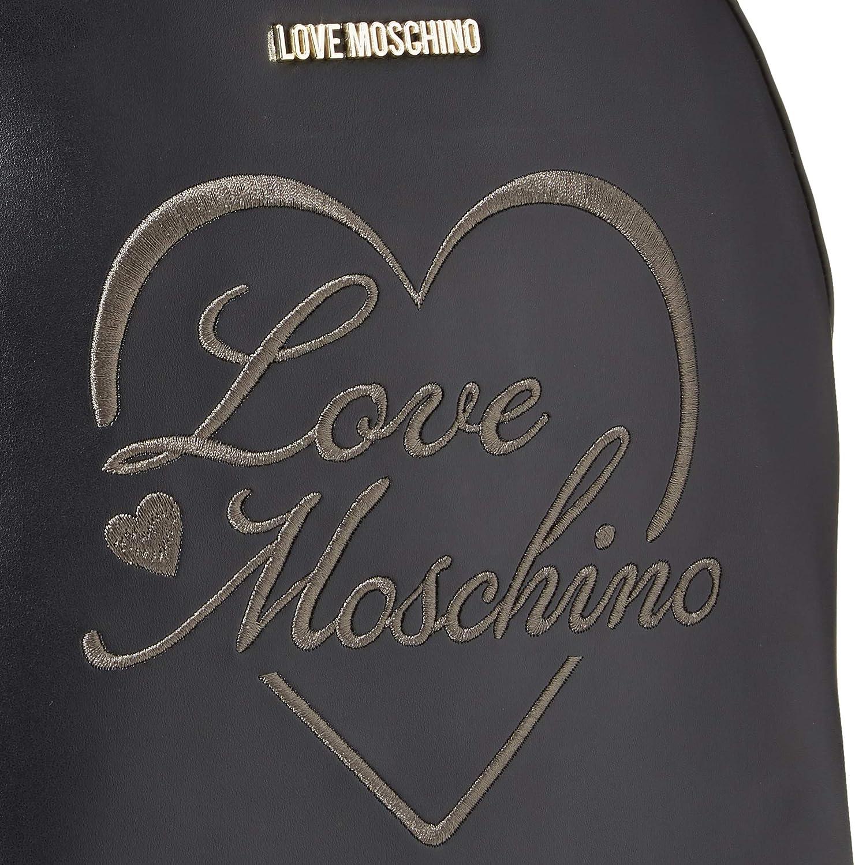 Love Moschino Pu, Borsa da donna, Normale Nero